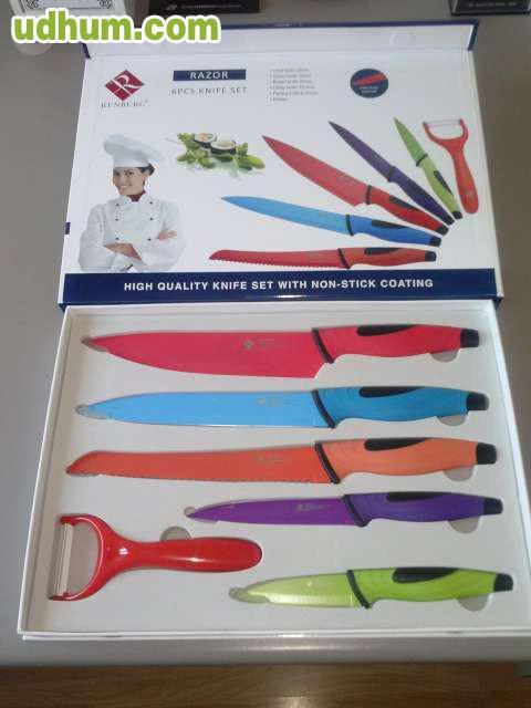 Cuchillos set de 6 marca renberg - Set de cuchillos bergner ...