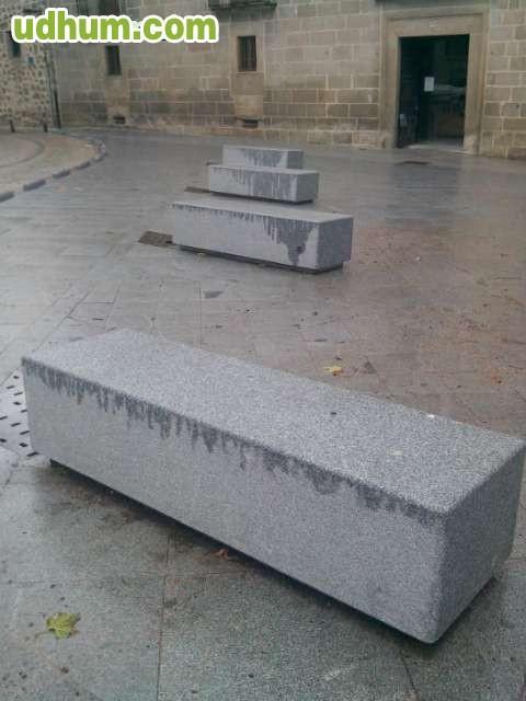 Venta de bancos de granito for Bancos de granito para jardin