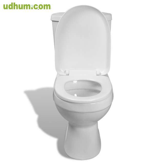 Inodoro con cisterna blanca for Inodoro con cisterna
