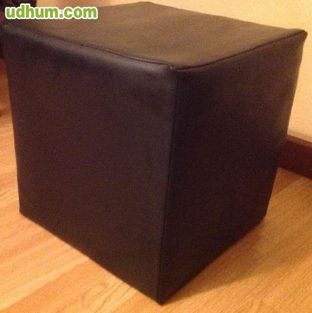 Puff negro cuadrado for Puff cuadrados