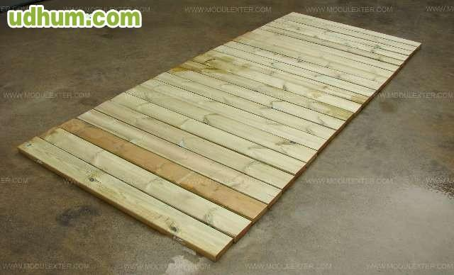 Venta de pasarelas de madera enrollables for Alquiler chiringuito madera