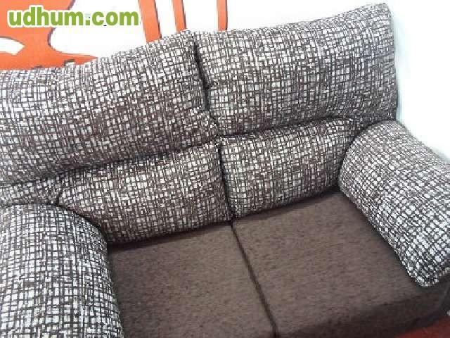 Sofa 2 plazas marron gris 150 cm for Sofa moderne marron gris