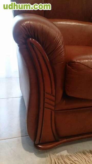 Sofa de piel y dos orejeros de piel - Sofas baratos en pontevedra ...