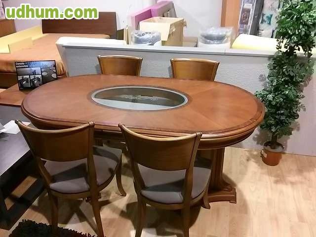 Boiserie mesa y sillas en liquidaci n for Liquidacion mesas sillas jardin