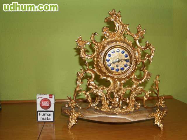 Reloj de mesa antiguo en bronce y marmol - Relojes antiguos de mesa ...