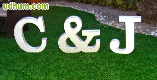 Letras en poliespan 1 for Letras gigantes para bodas baratas