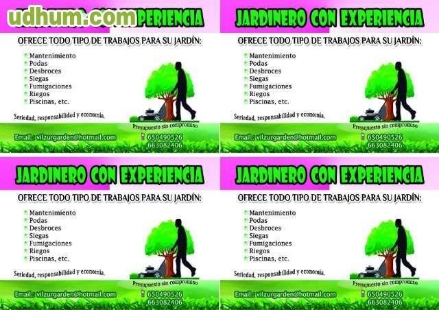 Se necesita jardinero madrid free jardinero con for Se necesita jardinero