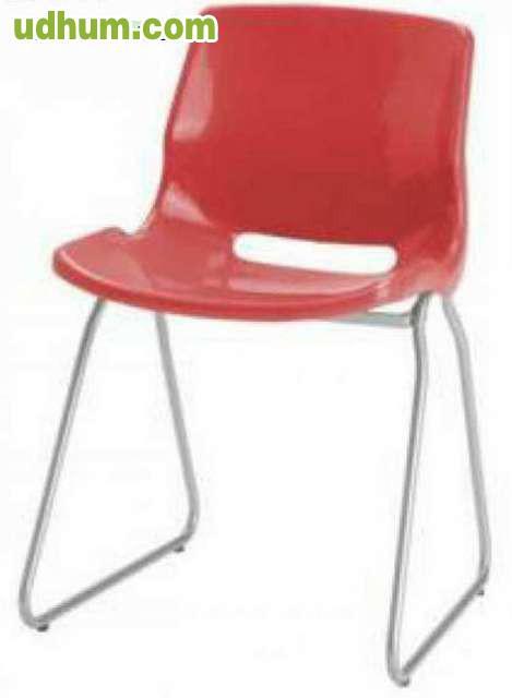 Silla muy comoda en rojo y negro for Silla escritorio comoda
