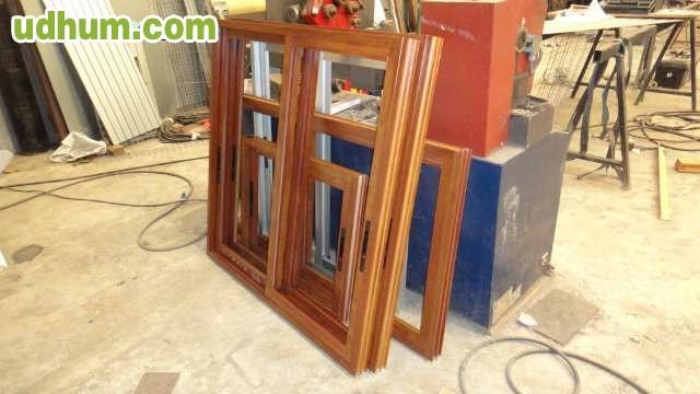 Ventanas imitacion madera muy barata for Ventanales de aluminio imitacion madera
