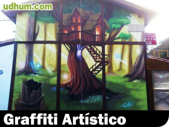 Decoraci n graffiti mural pamplona - Decoracion pamplona ...