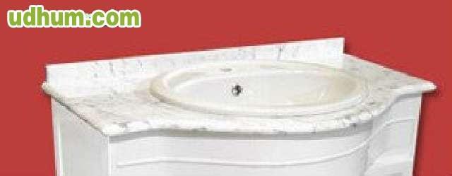 Tapa o piedra de m rmol blanca lavabo for Piedra marmol blanca