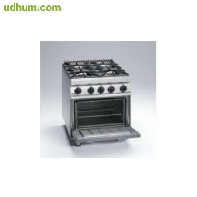 Cocina de cuatro fogones horno de gas for Horno con fogones