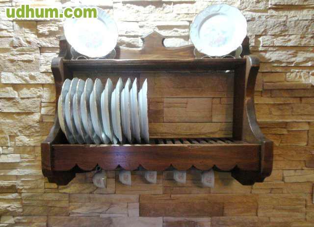 Mueble rustico auxiliar artesanal for Armario platero cocina