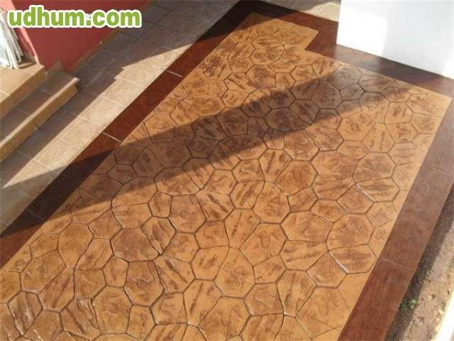 Pavimento impreso economico for Hormigon impreso lliria