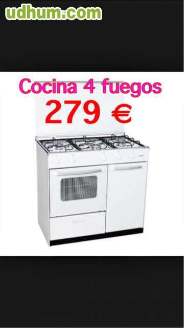 Cocina 4 fuegos con horno gas for Cocina 4 fuegos gas