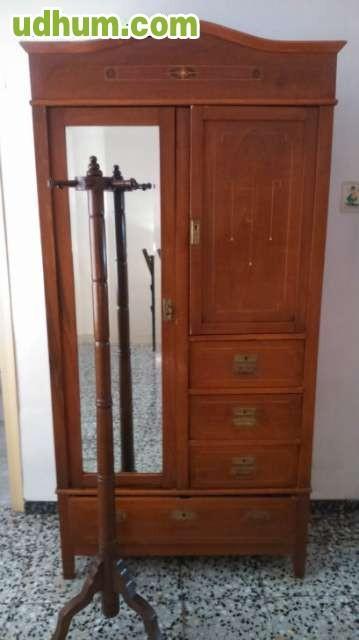 Conjunto muebles antiguos y reloj - Muebles castellanos antiguos ...