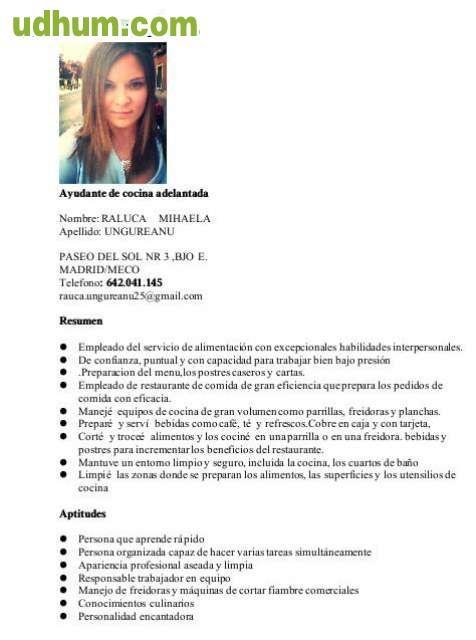 Ayudante de cocina 537 - Trabajo de ayudante de cocina en madrid ...