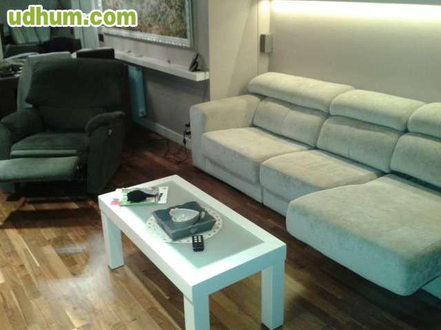 Sofa 3 Plazas Motorizado Y Sillon Relax