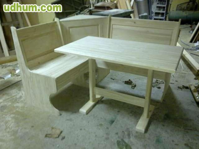Fabricacion de bancos rinconeros - Rinconeras de madera ...