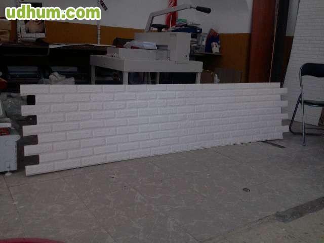 Paneles decorativos poliuretano ladrillo - Panel imitacion ladrillo ...