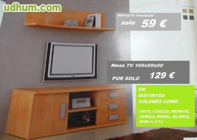 Mesa tv barata en diferentes colores for Muebles ledesma