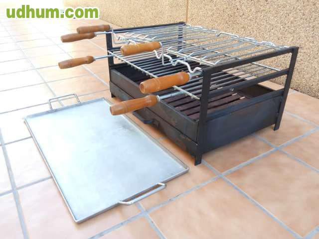 Barbacoa para carbon con plancha acero - Plancha de acero inoxidable para barbacoa ...