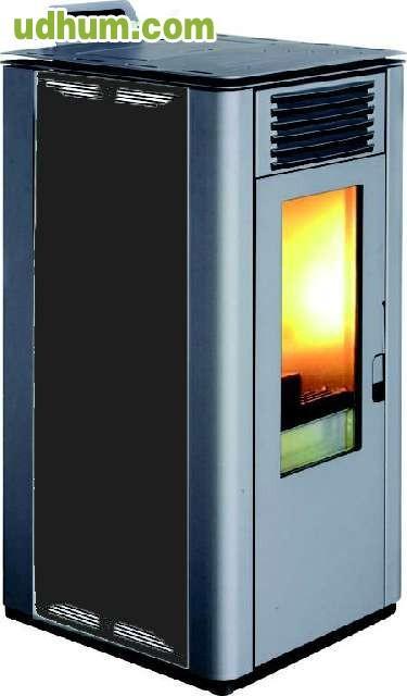 Estufa de biomasa policombustible 7 kw for Estufa profesional