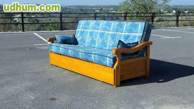 Sof cama dos plazas color azul for Sofa cama dos plazas barato