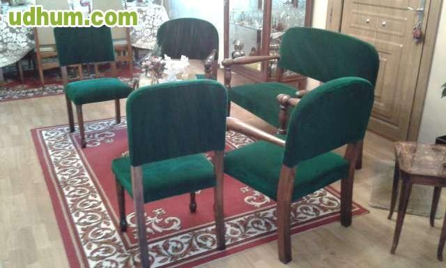 Juego de sofa sillones sillas y mesa 1 Juego sillones usados