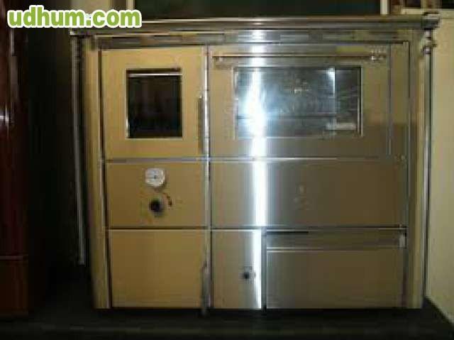 Cocina de le a con horno radiadores - Cocinas con horno de lena ...