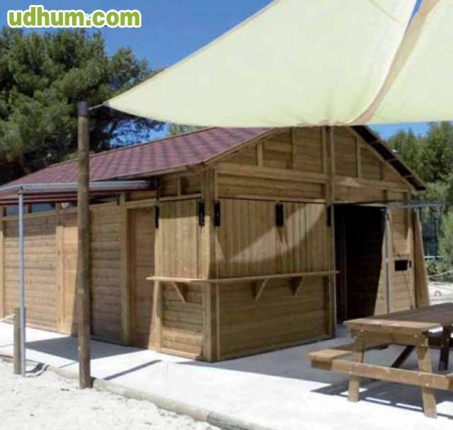 Chiringuitos carpinteria madera for Alquiler chiringuito madera