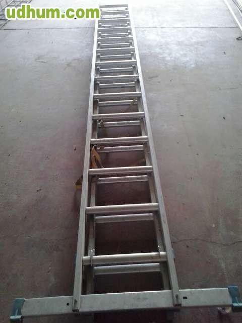 Escalera de aluminio 4 for Escalera de aluminio extensible 9 metros