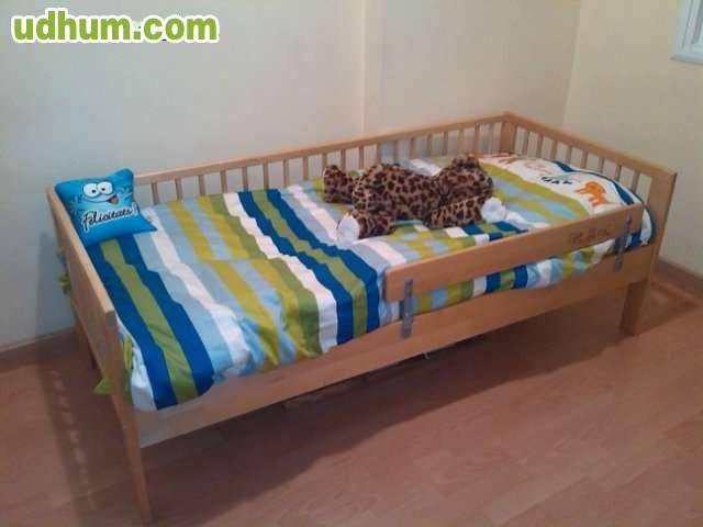 Estructura de cama ikea con somier - Medidas de camas ikea ...