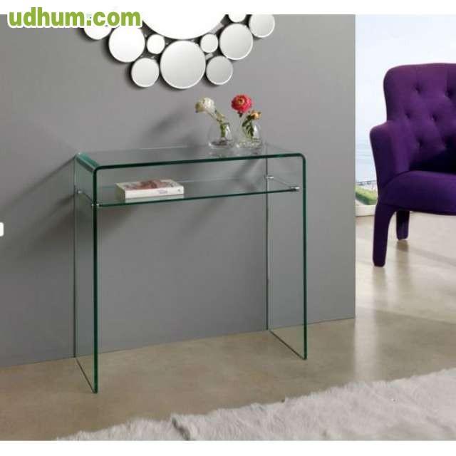 Mesa despacho de cristal - Mesa cristal despacho ...
