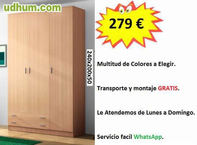 Armarios baratos de 240 cm de alto for Armarios baratos montaje incluido