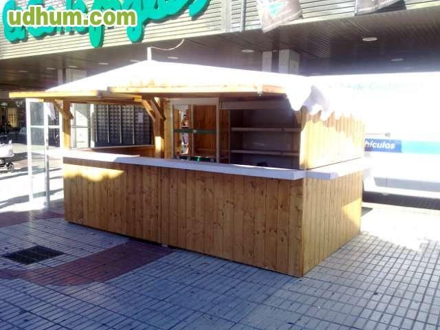 Alquiler y venta de casetas de madera for Fabricacion de bares de madera