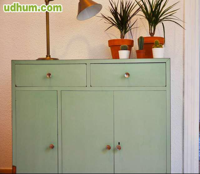 Mueble vintage verde menta - Muebles vintage sevilla ...