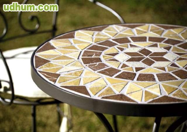 Mesa forja artesanal y mosaico cordoba - Forja en cordoba ...