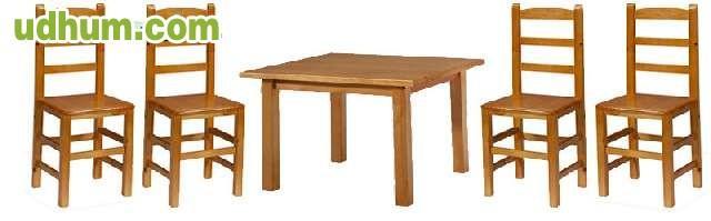 Sillas y mesas de madera baratas for Mesas jardin madera baratas