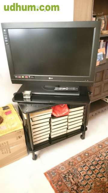 mueble tv con plataforma giratoria