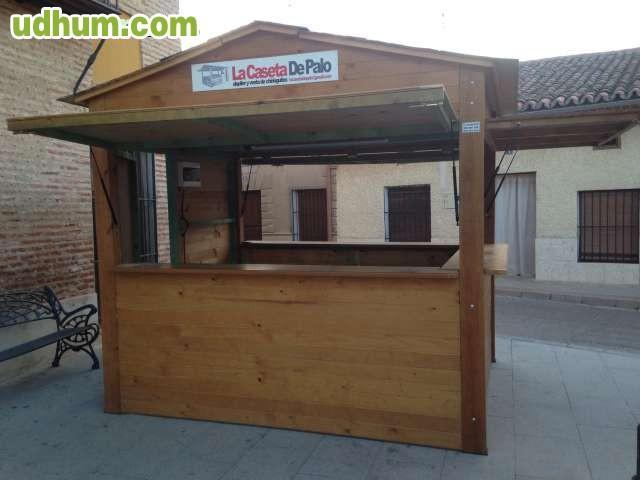 Casetas de feria madera for Kioscos bares de madera somos fabricantes