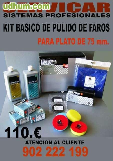 Mini kit profesional pulido de faros - Kit de pulido de faros ...
