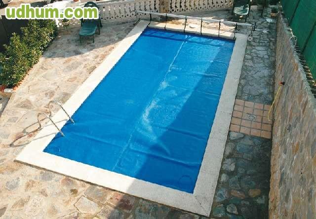Manta piscinas solar burbuja azul for Manta solar piscina