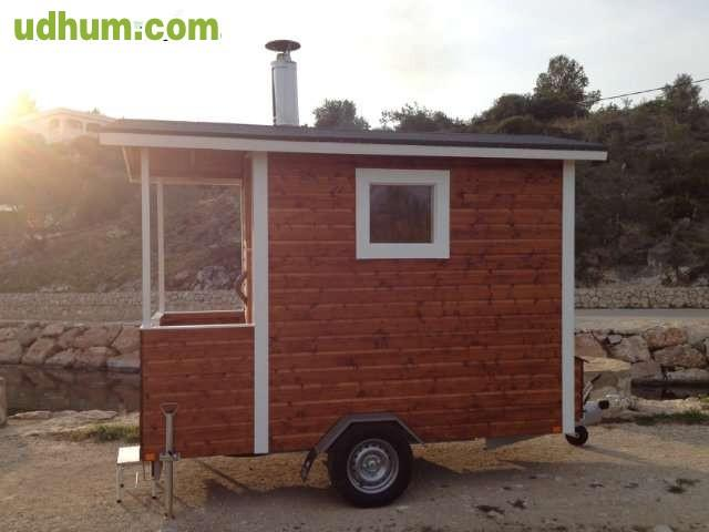 Remolque sauna finlandesa jardin - Estufa finlandesa ...