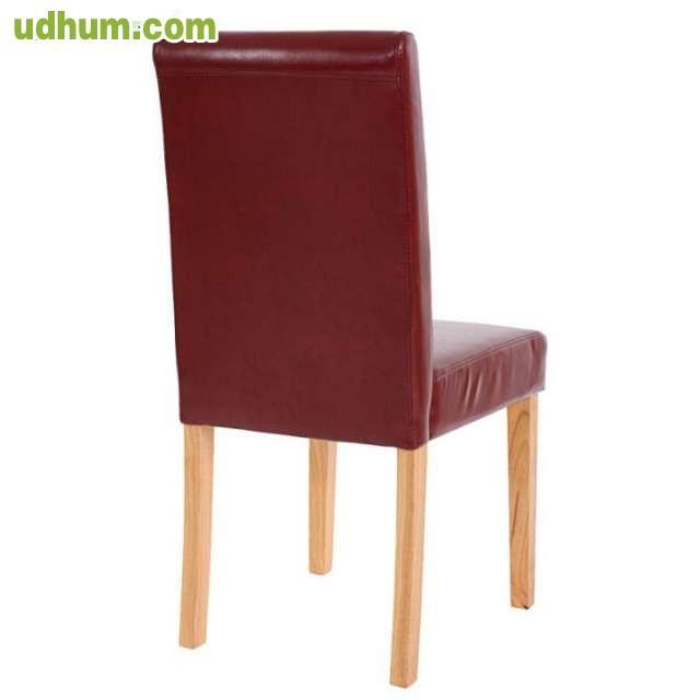 Cojunto 4 sillas modernas for Sillas de piel modernas