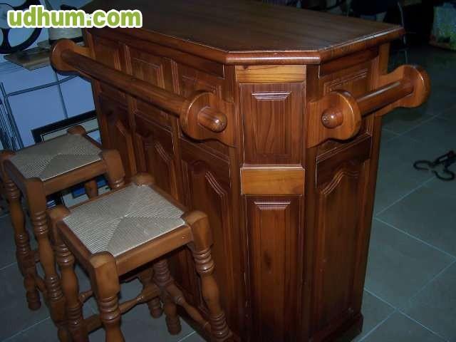 Mueble barra bar de madera for Mueble barra bar