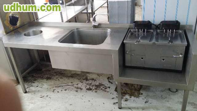 Fregaderos industriales de acero inox - Cocinas industriales de segunda mano ...