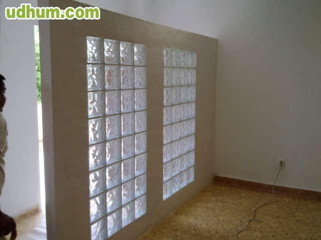Reformas torrevieja 1 - Pared de bloques de vidrio ...