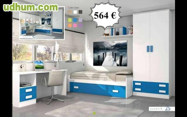Dormitorio juvenil blanco barato 564 - Dormitorios juveniles baratos merkamueble ...