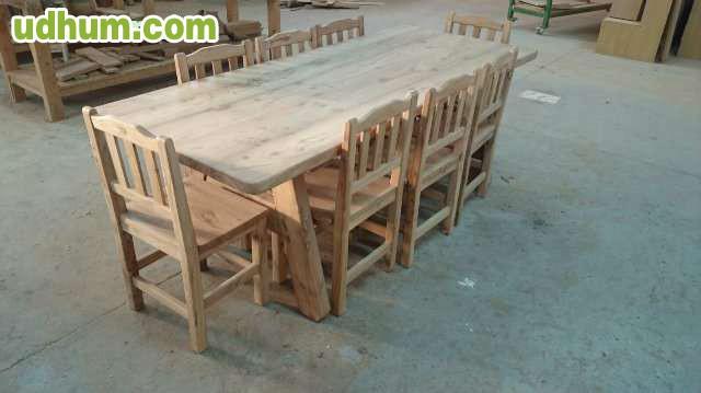 Mesa sillas y mueble macizo para bodega - Muebles para bodegas ...